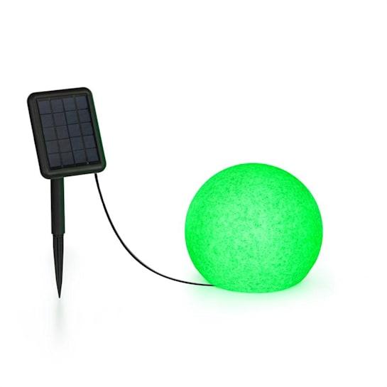 Shinestone Solar 20 lichtbol zonnepaneel Ø20cm RGB LED IP68 accu