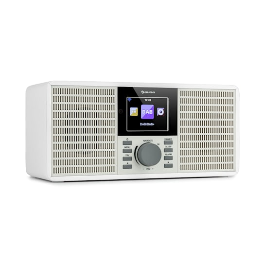"IR-260 Internetradio WLAN USB AUX UPnP 2.8"" HCC-Display Fernbedienung weiß"