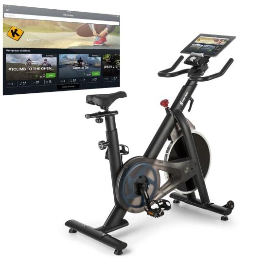 Evo Race Cardiobike Pulsband Kinomap 22kg Schwungmasse grau