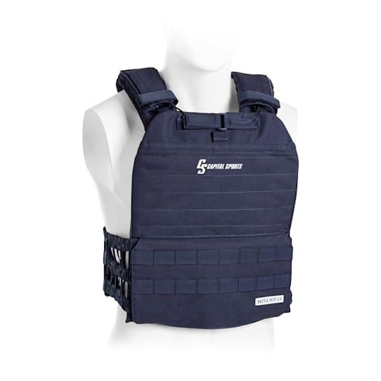 Battlevest 2.0 Weight Vest 2x2 Weights 5.75 & 8.75lbs Blue