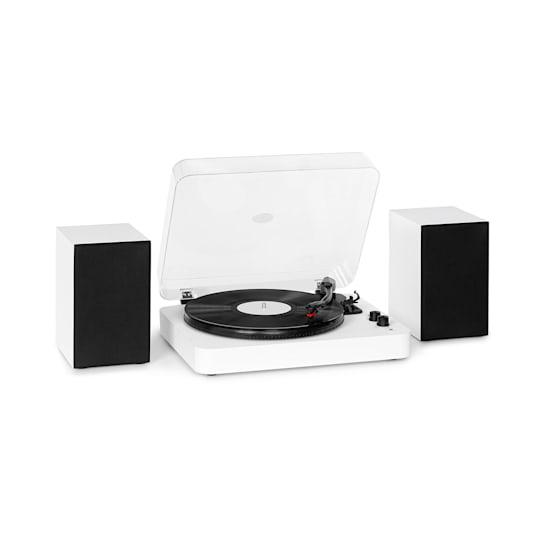 TT-Play SE Plattenspieler Lautsprecher 20Wmax. BT 33/45/78rpm PitchControl AUX-In Line-Out weiß