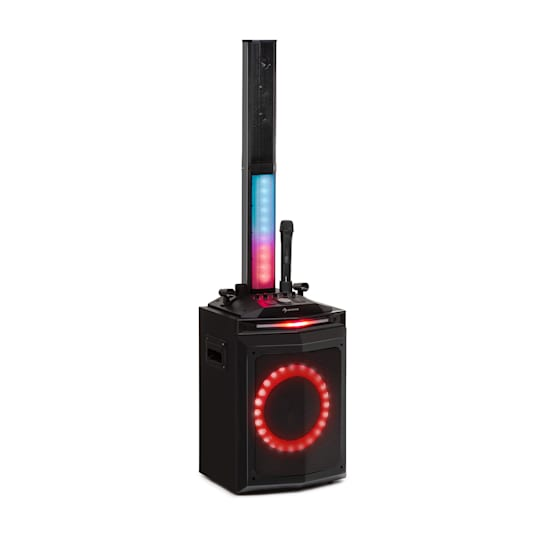 """Clubmaster Tube Party Sound System 150 Wmax. 10"""" Woofer USB BT AUX black"""