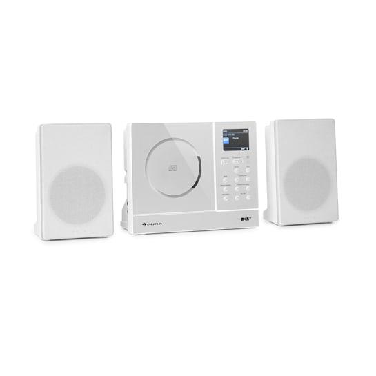 Connect Vertical Internetradio 2x5 Watt RMS CD IR/UKW/DAB+ Spotify BT weiß