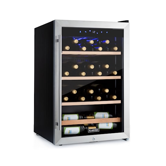 Klarstein Vinamour 48 Uno Weinkühlschrank 128l 48Fl 3 Einschübe 4-18°C Edelstahl