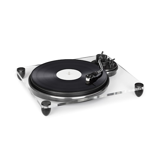 Pureness Record Player Acrylic 33 1/3 + 45 rpm Preamplifier Transparent