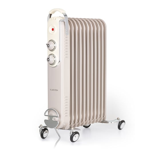 Thermaxx Retroheat Oil Radiator 2500W Floor Rollers Taupe