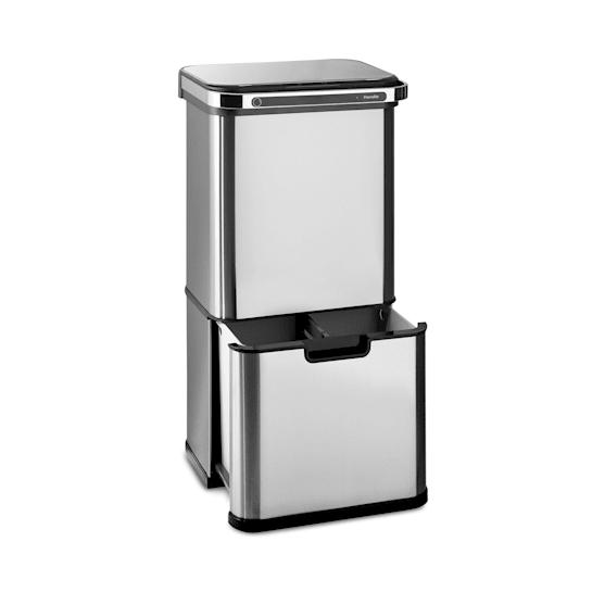 Touchless Ultraclean, odpadkový koš se senzorem, 60 l, 3 nádoby, ušlechtilá ocel, stříbrný
