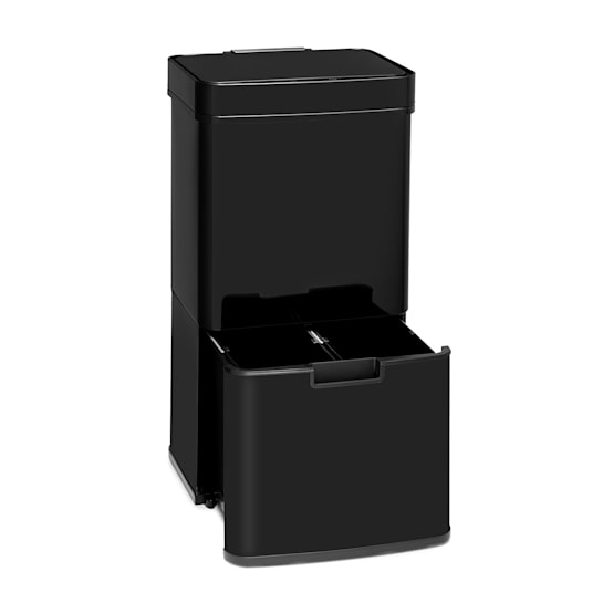 Touchless Black Rubbish Bin