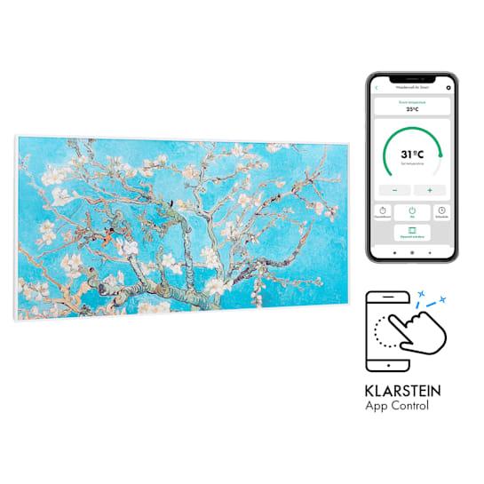 Wonderwall Air Art Smart Infrared Heater 120x60cm 700W App Almond Blossom