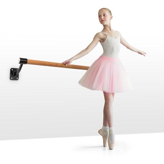 Barre Mur, baletna šipka, 110 cm, 38 mm Ø, zidna montaža, crna
