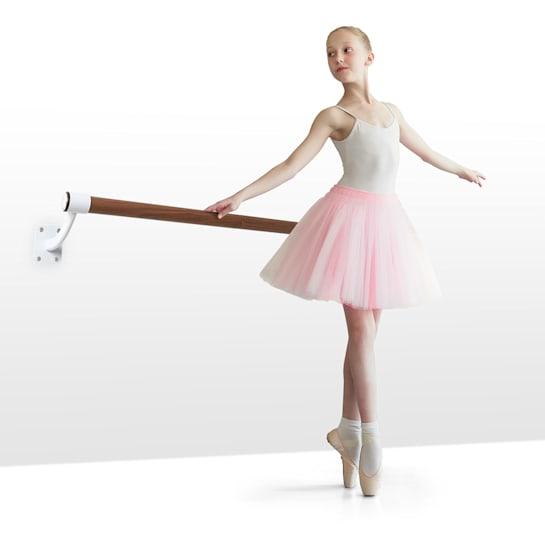 Barre Mur Ballettstange 100 cm Holm 38 mm Ø Wandmontage weiß