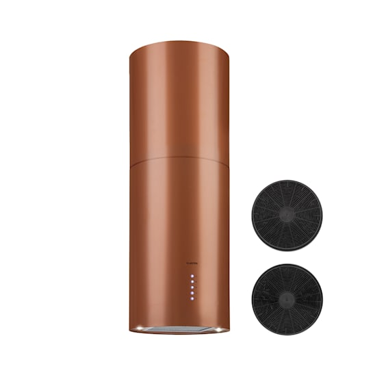 Beretta Inselabzugshaube Ø49,5cm Ab-/Umluft 650m³/h LED Aktivkohlefilter