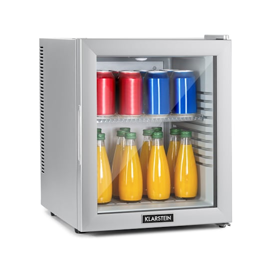 Brooklyn 32 Silver, mini hladnjak, energetski razred A, staklena vrata, LED, polica, srebrna