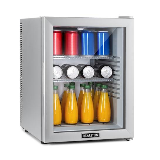 Brooklyn 42 Silver, mini hladnjak, energetska klasa A, staklena vrata, LED, polica, srebrna