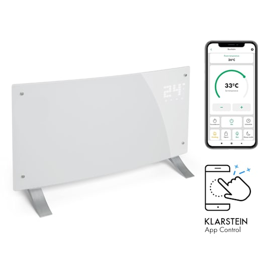 Bornholm Curved Smart Konvektionsheizgerät 2000W App-Steuerung Timer