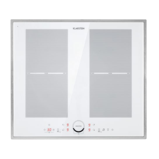 Delicatessa 60 Prime, indukcyjna płyta kuchenna, 4 strefy, 7000 W, timer, biała