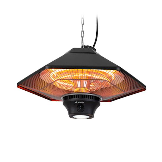 Heat Hexa, infračervený ohrievač, 800/1200/2000 W, halogén, IP34, LED, čierny