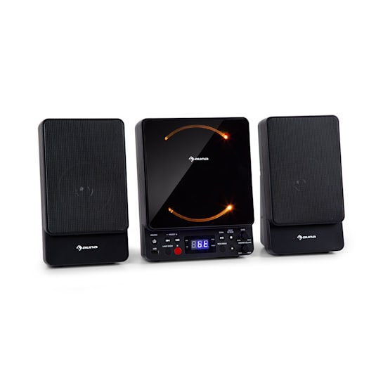 Microstar Microsystem Vertikalanlage CD-Player Bluetooth USB-Port Fernbedienung