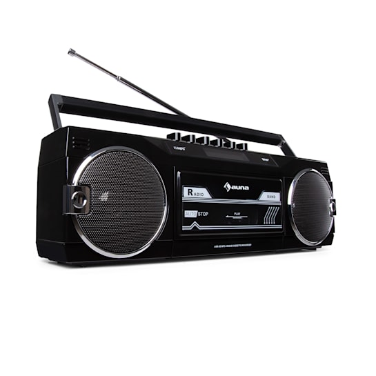 Duke DAB, Cassette Recorder Radio, DAB + / FM, BT, USB, SD, Telescopic Antenna