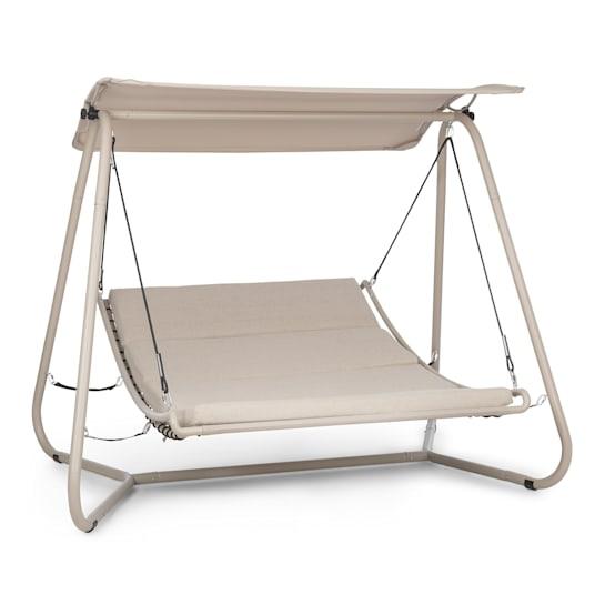 Garden Grove Gartenliege Swing Bed Stahlrahmen Sonnendach Polyester