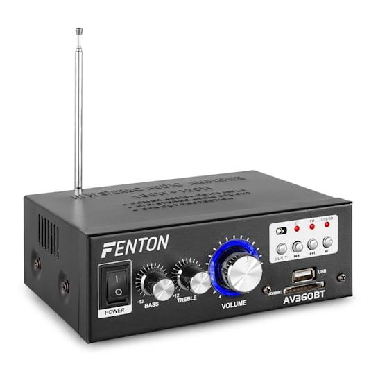 AV360BT Amplificatore Stereo80W RMS (2x40W a 8 Ohm) BT/USB/SD/AUX