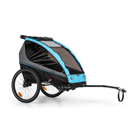 Kiddy King Fahrradanhänger für Kinder Jogger-Buggy 2-Sitzer 40 kg