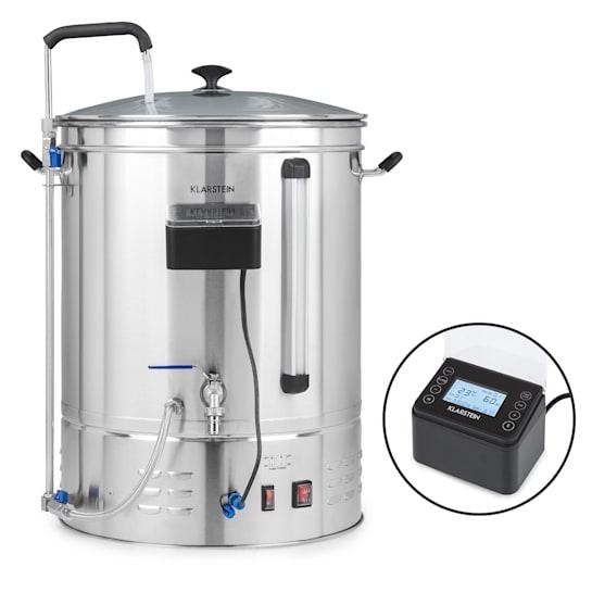 Brauheld Pro, Paiolo di Ammostamento, Pompa di Circolazione, Acciaio Inox, 70L, 30-100°C, 3300W