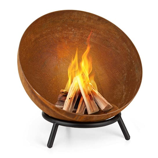 Fireball Rust, braciere inclinabile, finitura effetto ruggine, Ø 60 cm