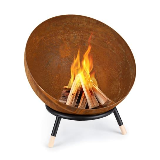 Fireball Rust, braciere inclinabile, finitura effetto ruggine/legno, Ø 60 cm