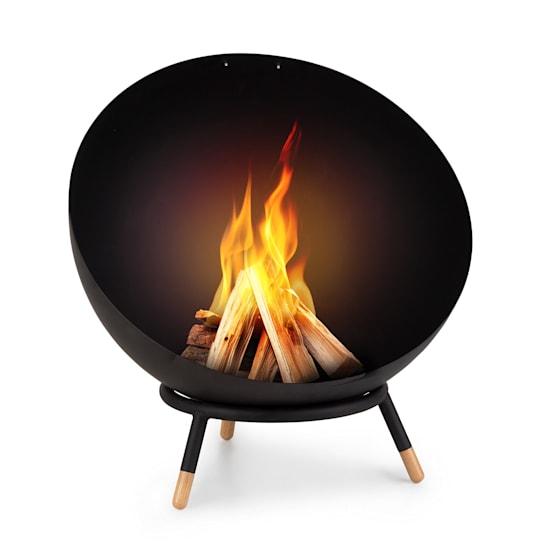 Fireball Wood, sklopné ocelové ohniště, do zahrady nebo na terasu, Ø 60 cm