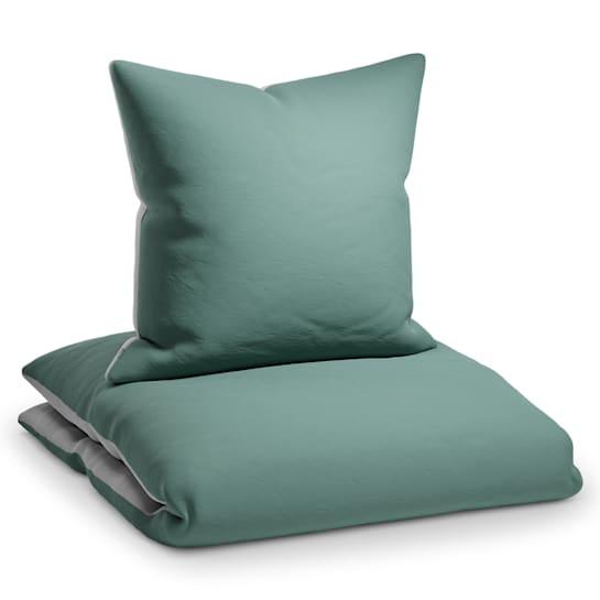 Sleepwise Soft Wonder-Edition, povlečení, zelenošedá/světle šedá, 135 x 200 cm, 80 x 80 cm