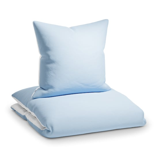 Sleepwise Soft Wonder-Edition, povlečení, modrošedá/bílá, 135 x 200 cm, 80 x 80 cm