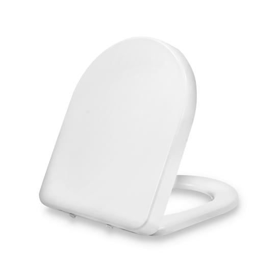 Senzano, Tavoletta per WC, Forma a D, Abbassamento Automatico, Antibatterica