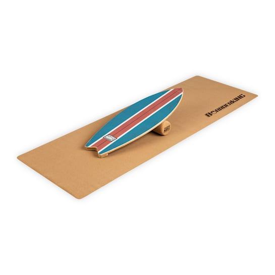 Indoorboard Wave Balance Board + Matte + Rolle Holz / Kork