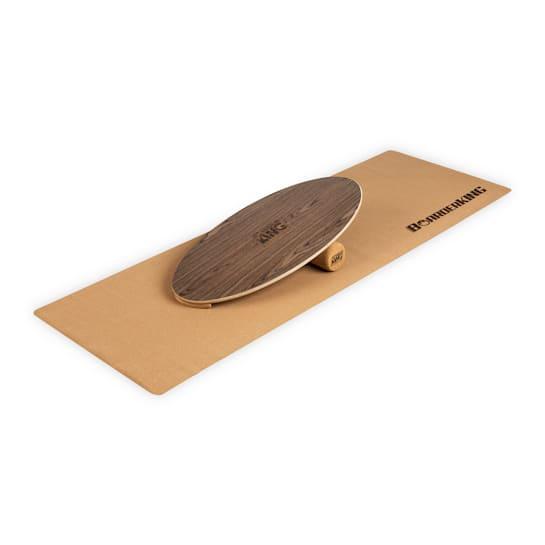 Indoorboard Allrounder Balance Board + Matte + Rolle Holz / Kork