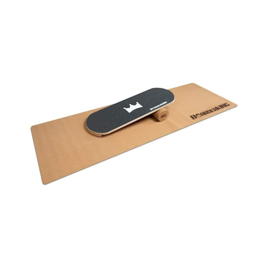 Indoorboard Classic Balance Board + Matte + Rolle Holz / Kork