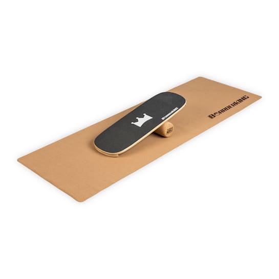 Indoorboard Classic, tasapainolauta + matto + rulla, puu/korkki, musta