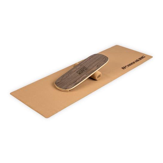 Indoorboard Flow Balance Board + Matte + Rolle Holz / Kork
