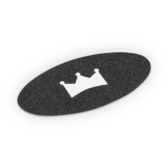 Griptape für Balance Board Indoorboard Kunststoff 2 Stück oval