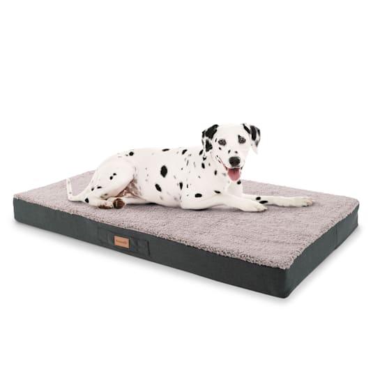 Balu Hundebett Hundekissen | waschbar | orthopädisch | rutschfest | atmungsaktiver Memory-Schaum | Größe XL (120 x 10 x 72 cm)