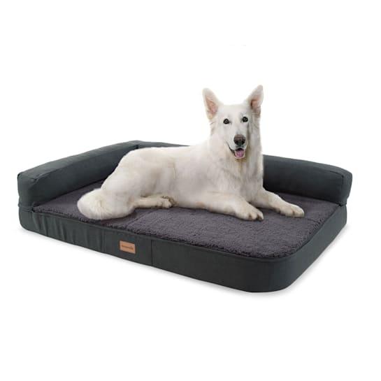 Odin, Lettino per Cani, Materassino per Cani | Lavabile | Ortopedico | Antiscivolo | Traspirante | Memory Foam | Taglia L (120x12x80 cm)