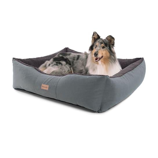Emma lit pour chien panier lavable antidérapant respirant matelas réversible coussin Taille L (100 x 30 x 90 cm)