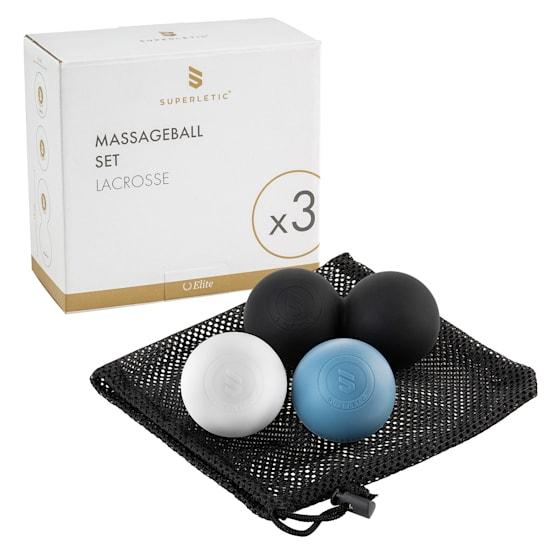 Dacso Massageball Set Elite 1xDuo-Ball 2xBall Lacrosse Selbstmassage