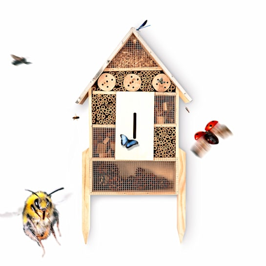 Insect house metal roof