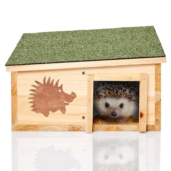 Hedgehog feeder hibernation 2 chambers fir wood untreated