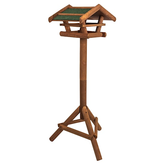 Bird house with stand base weatherproof roofing treated pine wood