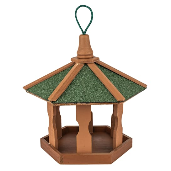 Bird house with hanging device weatherproof roofing treated pine wood