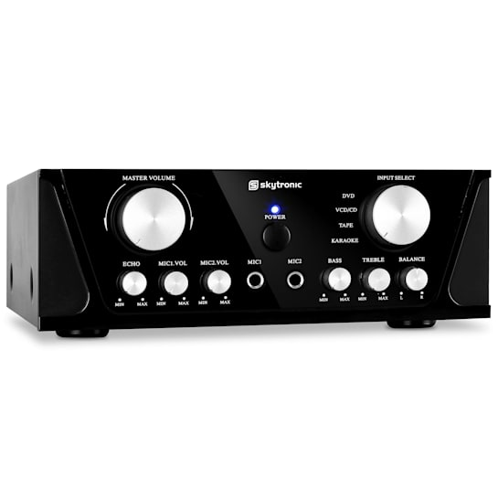103.200 Compact Hi-Fi PA Karaoke Amplifier 100W Microphone