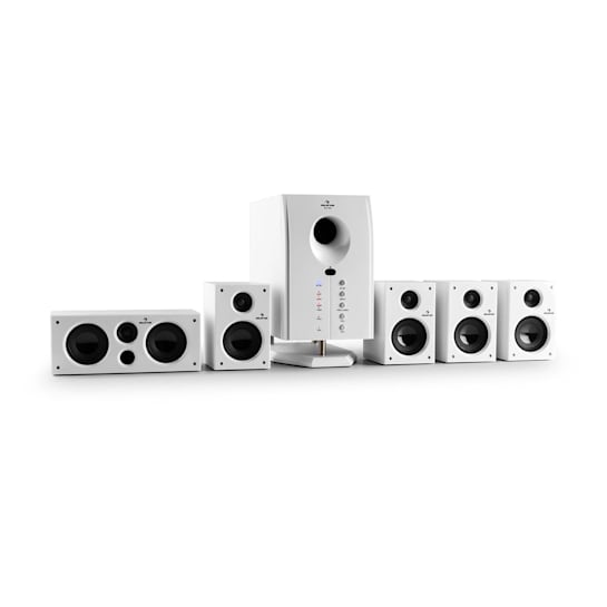 Areal 525 WH aktief 5.1-kanaal-luidsprekersysteem 95W RMS AUX wit