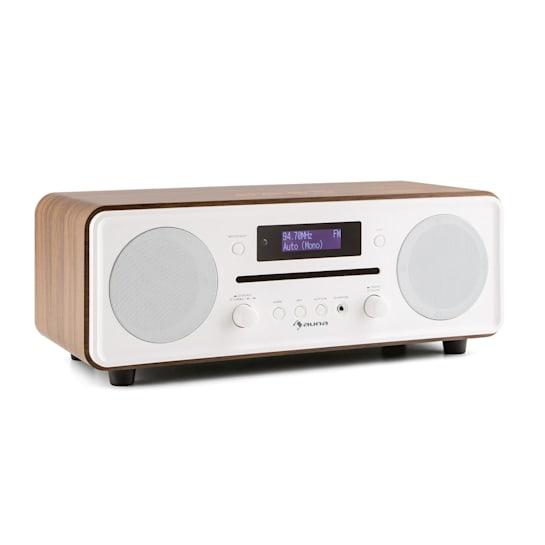 Melodia Aparelhagem Compacta CD DAB +/FM Rádio CD Bluetooth Despertador Nogueira